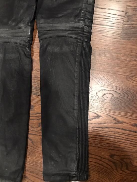 Balmain Balmain Black Waxed Biker Denim Jeans Size US 34 / EU 50 - 5