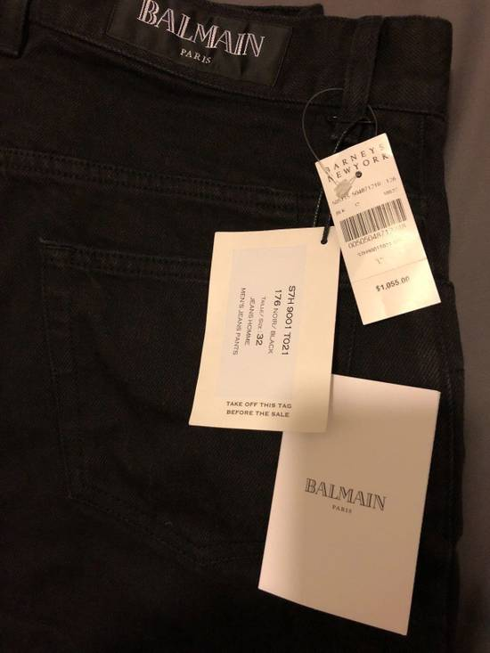 Balmain Balmain Black Biker Jeans Size US 32 / EU 48 - 1
