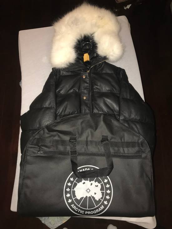 Canada Goose OVO Canada Goose 2011 Leather 24k Gold Fur Bomber Jacket Size US XL / EU 56 / 4 - 3