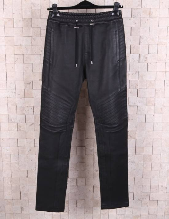 Balmain Leather Black Training Biker Size US 30 / EU 46