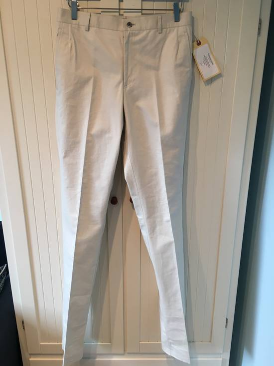 Thom Browne Men's Unconstructed Chino Cotton Twill in Stone Size US 31 - 1