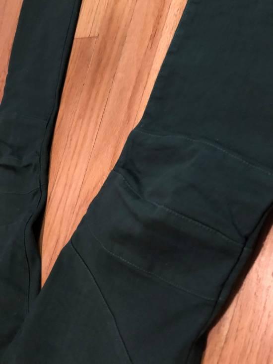 Balmain Balmain Biker Jeans Green Cotton Size US 31 - 2