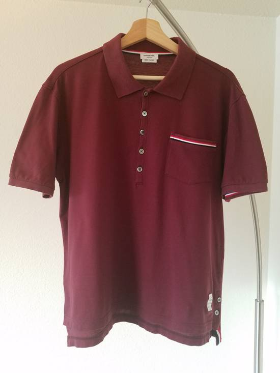 Thom Browne Red Polo worn once Size US M / EU 48-50 / 2 - 1
