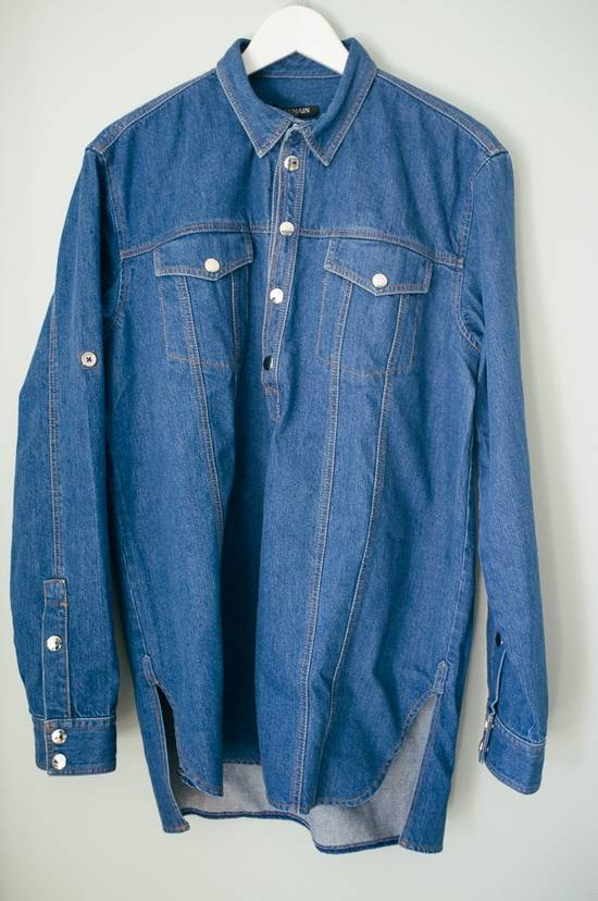 Balmain Denim shirt from Spring/Summer 14 collection Size US M / EU 48-50 / 2 - 1