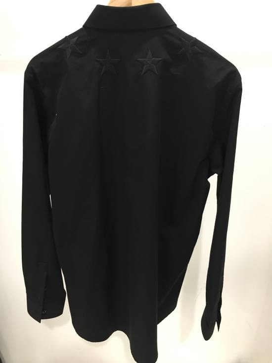 Givenchy Black Embroidered Star Long Sleeve Button Down Shirt Size US L / EU 52-54 / 3 - 1