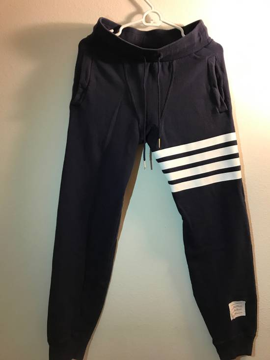 Thom Browne CLASSIC SWEATPANTS Navy WITH 4-BAR UNIVERSITY STRIPES Size US 30 / EU 46