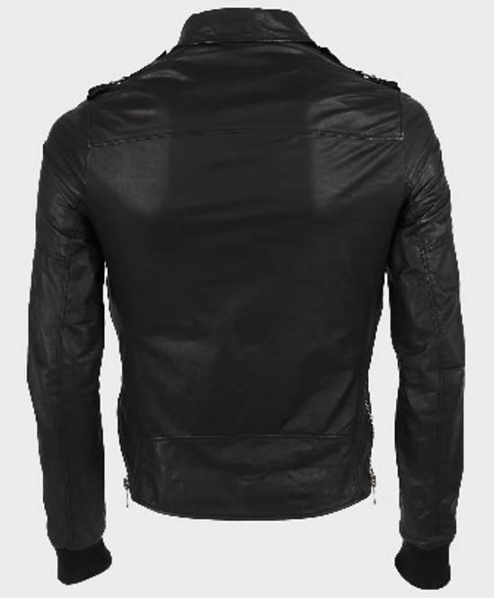 Balmain Safety Pin Leather Biker Jacke Size US M / EU 48-50 / 2 - 6