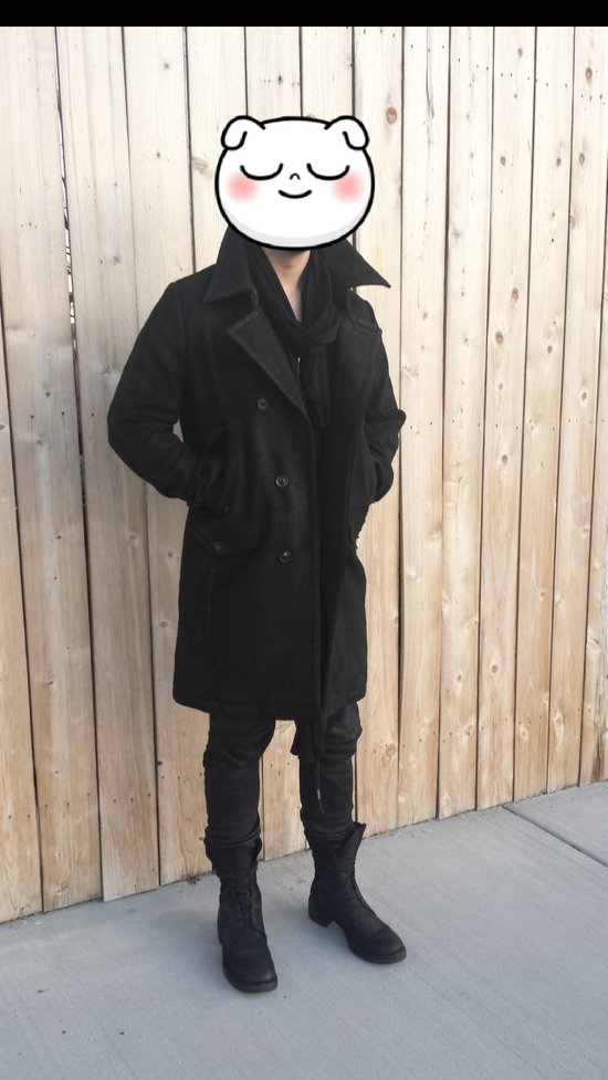 Julius Julius_7 Waxed Wool Peacoat Size US L / EU 52-54 / 3 - 5
