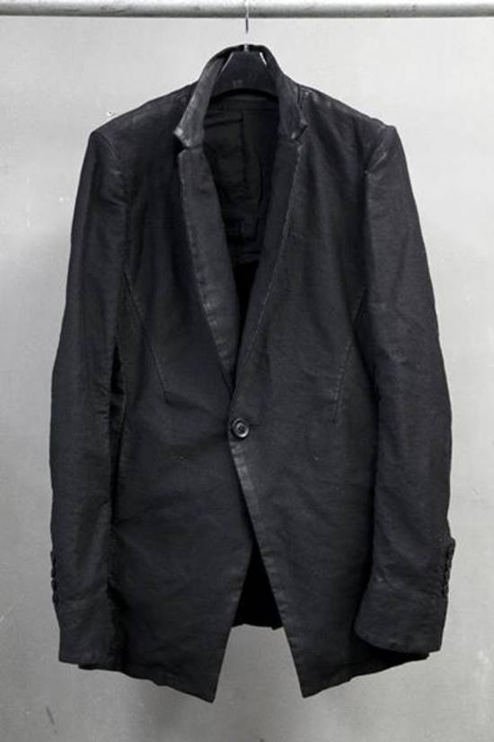 Julius FW13-14 'CRACK' black waxed edge moleskin blazer Size 46R