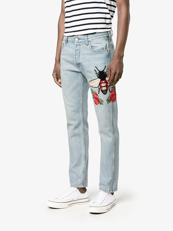 Gucci Bee Embroidered Denim Jeans Size US 32 / EU 48