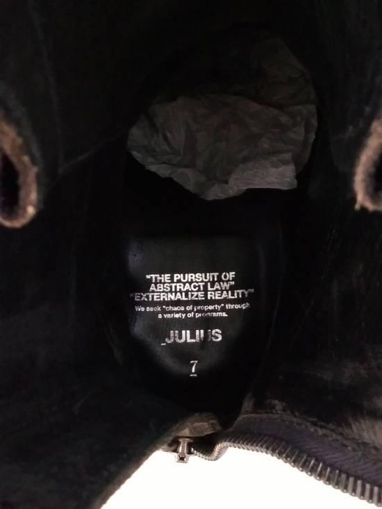 Julius Black Reversed Leather Backzip Combat Boots Size US 11 / EU 44 - 8