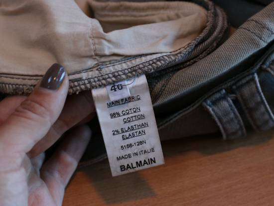 Balmain Stretch Denim Cotton Biker Jeans Size US 26 / EU 42 - 5