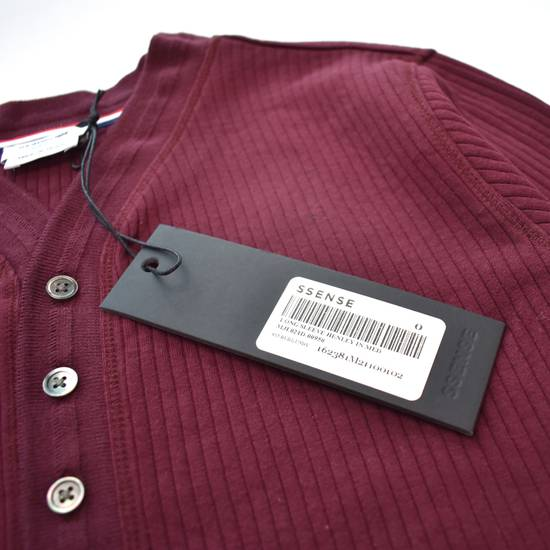 Thom Browne Wine Red Ribbed Henley Shirt NWT Size US XS / EU 42 / 0 - 12