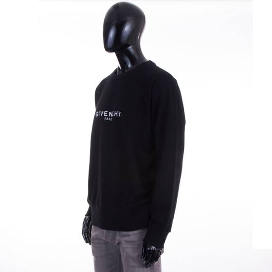 Givenchy Black Cotton Sweater With Blurred Givenchy Paris Logo Size US XL / EU 56 / 4 - 1