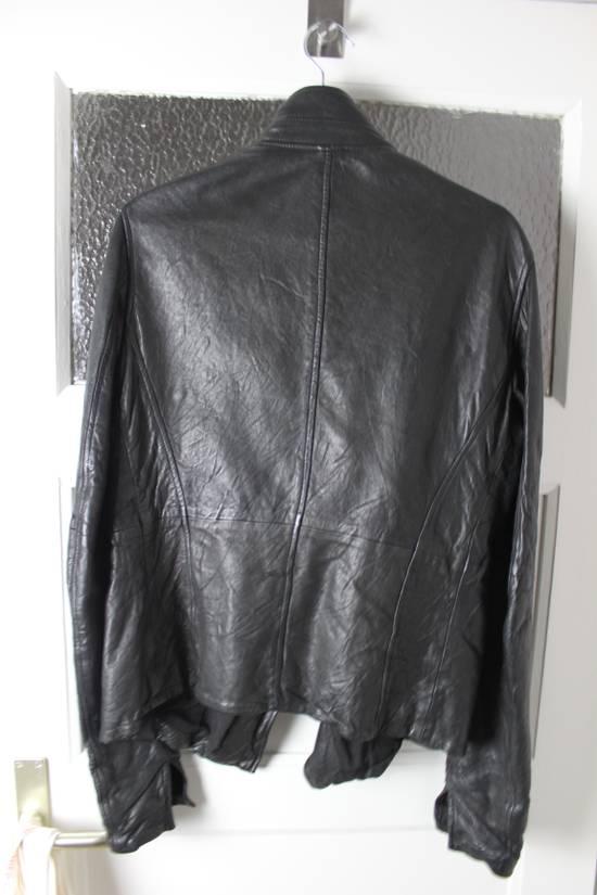 Julius 11aw halo asymmetrical leather jacket Size US M / EU 48-50 / 2 - 3