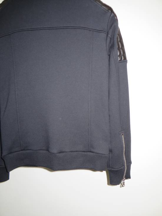 Balmain Quilted leather and cotton sweatshirt Size US XS / EU 42 / 0 - 6