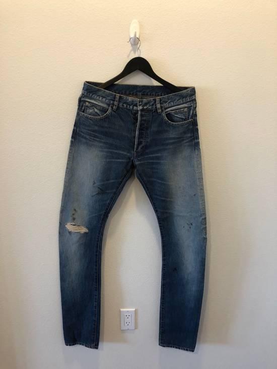 Balmain Distressed Jeans Blue Size US 31