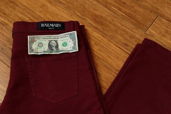 Balmain Embroidered Trim Slim Jeans Size US 32 / EU 48