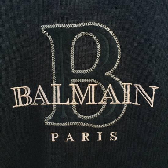 Balmain 100% Authentic Luxury Balmain / Pierre Balmain Embroidery Big Logo Sweastshirt / Balmain Crewneck Pullover Size US L / EU 52-54 / 3 - 1