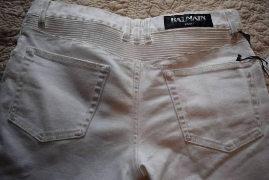 Balmain Balmain Authentic $1149 White Biker Jeans Size 30 Brand New With Tags Size US 30 / EU 46 - 5