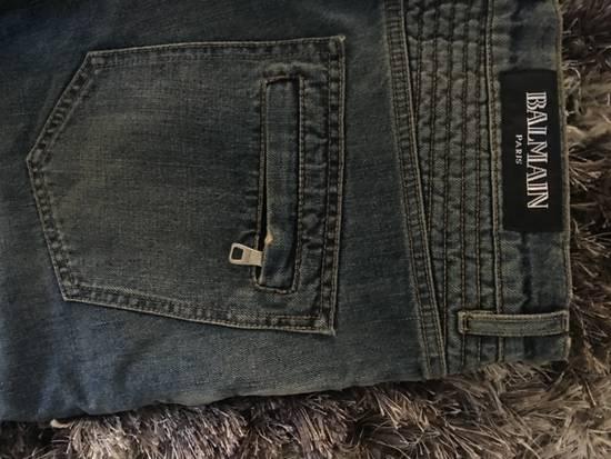 Balmain Faded Blue Biker Jeans (brand new w/ tag) Size US 33 - 2