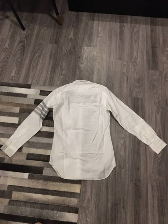 Thom Browne White Oxford With Grey Stripes Size US S / EU 44-46 / 1 - 5