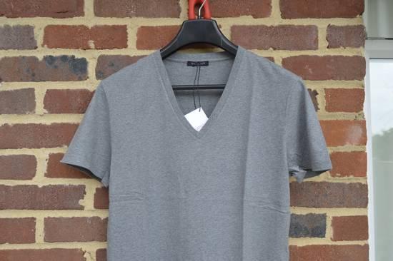 Balmain Grey Distressed V-Neck T-shirt Size US M / EU 48-50 / 2 - 1