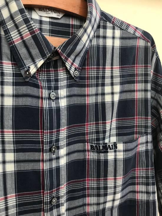 Balmain Balmain Short Sleeves Checked Shirt Size US XL / EU 56 / 4 - 1