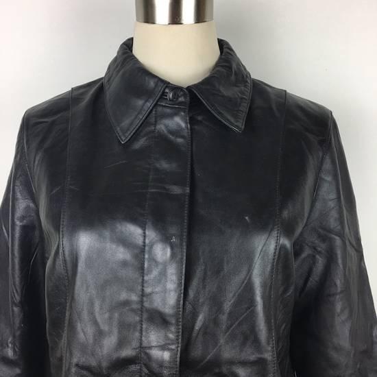 Balmain Mens BALMAIN Paris Leather PVC Jacket Coat Luxury Designer Size US M / EU 48-50 / 2 - 1