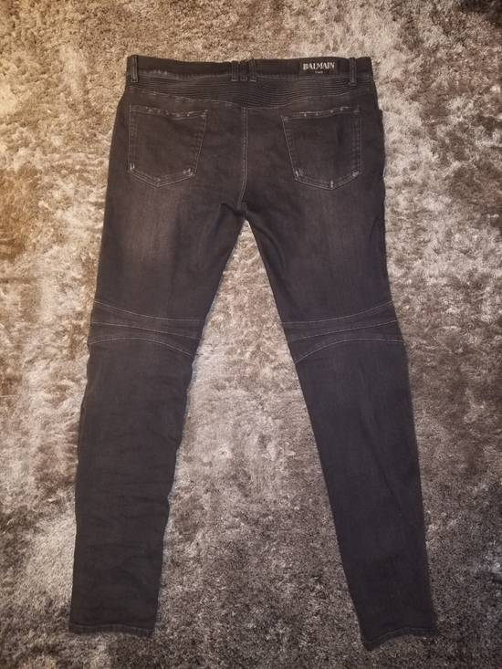 Balmain Grey Signature Biker Denim Size US 36 / EU 52 - 1