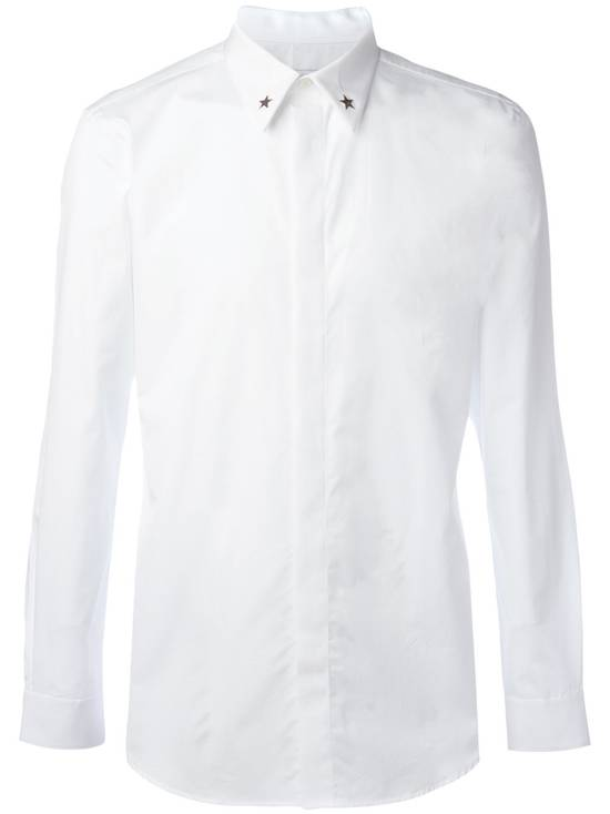 Givenchy White Metal Stars Collar Shirt Size US L / EU 52-54 / 3 - 1