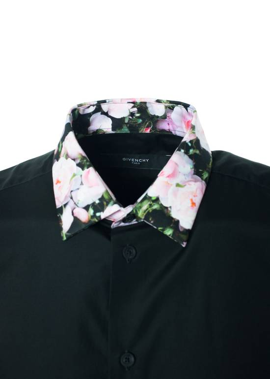 Givenchy Givenchy Mens Black W/ Floral Collar Button Down Size US XS / EU 42 / 0 - 1