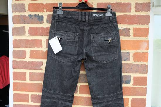 Balmain Black Distressed Biker Jeans Size US 29 - 7