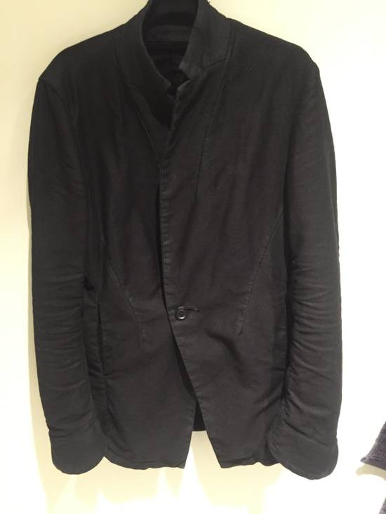 Julius FW13-14 'CRACK' black waxed edge moleskin blazer Size 46R - 3