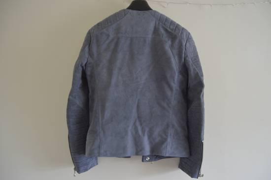Balmain 1 of 1 Greyish Blue Suede Biker Size US M / EU 48-50 / 2 - 5