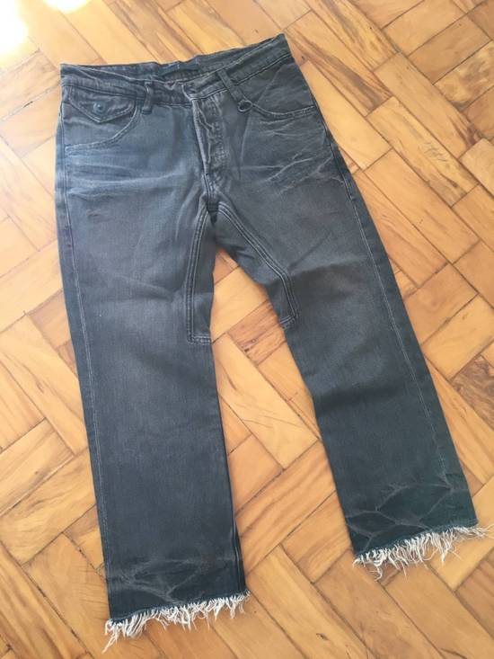 Julius Japan made cropped wrinkle and dirt effect distressed frayed hem Jeans Size US 28 / EU 44 - 1
