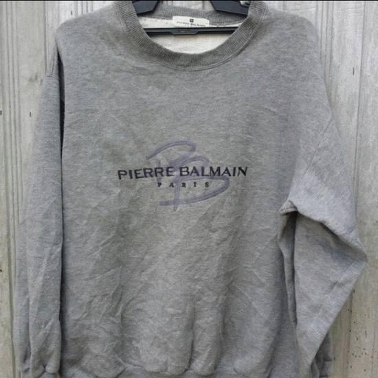 Balmain 100% Authentic Luxury Balmain / Pierre Balmain Embroidery Big Logo Sweastshirt / Balmain Crewneck Pullover Size US L / EU 52-54 / 3