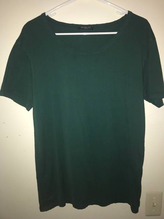 Balmain Forest Green Distress Tee Size US M / EU 48-50 / 2