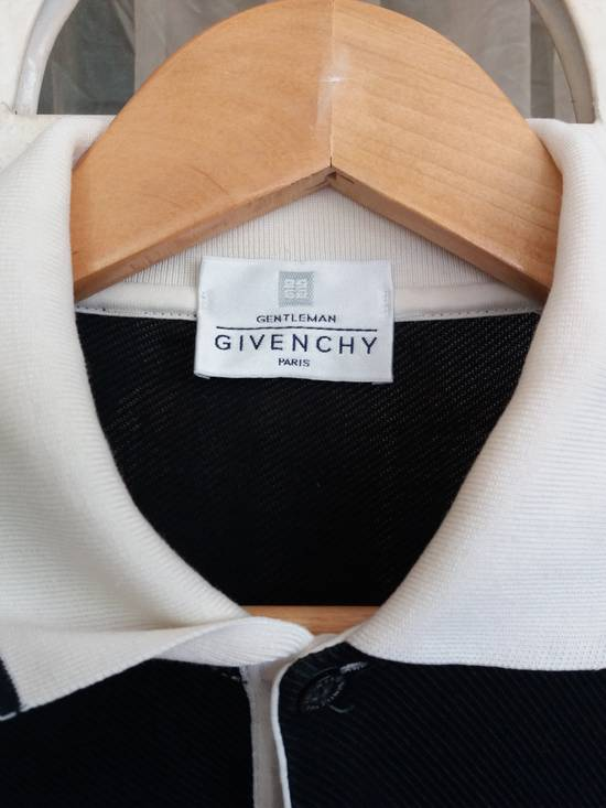 Givenchy Vintage Givenchy paris polo tee single pocket embroidery/black with white collar/made in italy Size US M / EU 48-50 / 2 - 3