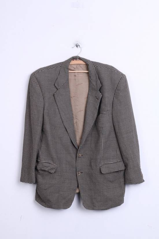 Balmain Pierre Balmain Paris El Corte Ingles Mens 56 L Blazer Top Suit Check Wool Brown 9933 Size 42R