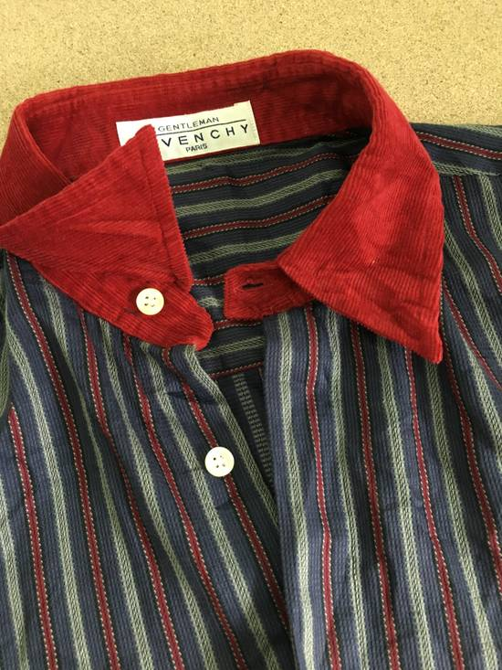 Givenchy Gentleman Givenchy Indigo Red Stripes Casual Shirt Made in Italy Size US M / EU 48-50 / 2 - 10