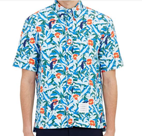 Thom Browne Hawaiin Print Tropical Swim Shirt Size US XL / EU 56 / 4 - 7