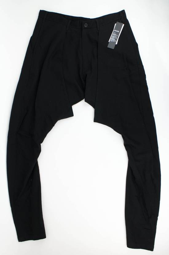 Julius 7 Black 'Slim Drop Crotch' Slim Fit Casual Pants Size 4/L Size US 36 / EU 52 - 2