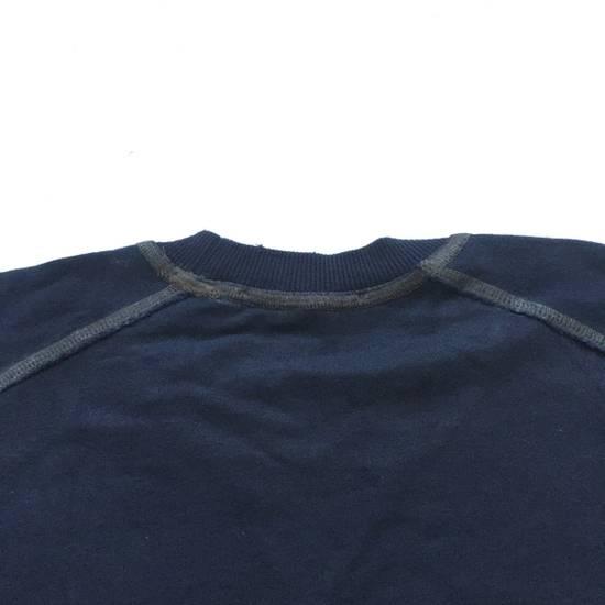 Balmain Distressed Navy French Terry Sweatshirt NWT Size US XL / EU 56 / 4 - 11