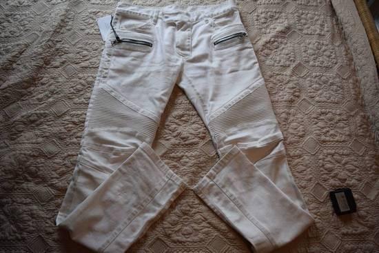 Balmain Balmain Authentic $1149 White Biker Jeans Size 30 Brand New With Tags Size US 30 / EU 46