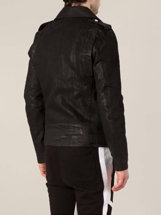 Balmain Waxed denim perfecto biker jacket Size US M / EU 48-50 / 2 - 2