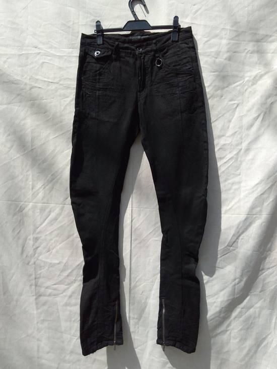 Julius Goth_ik Black Zip Hem Jeans Size US 31