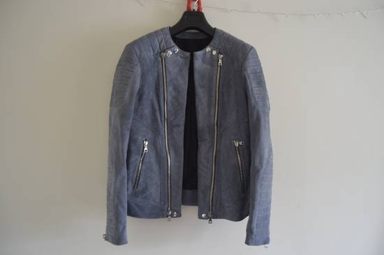 Balmain 1 of 1 Greyish Blue Suede Biker Size US M / EU 48-50 / 2