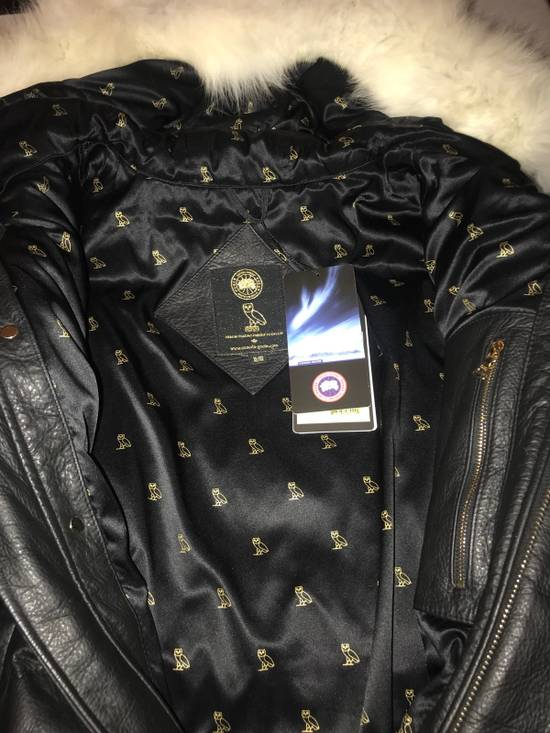 Canada Goose OVO Canada Goose 2011 Leather 24k Gold Fur Bomber Jacket Size US XL / EU 56 / 4 - 2