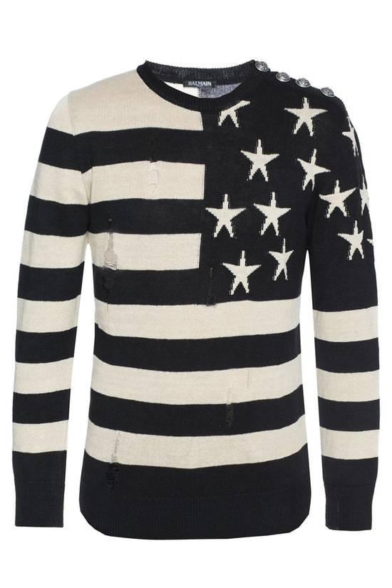 Balmain Brand New Balmain Flag Embroidered Sweater Size US L / EU 52-54 / 3